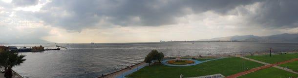 İzmir Smyrna Cumhuriyet Meydanı Deniz Fotografia Stock