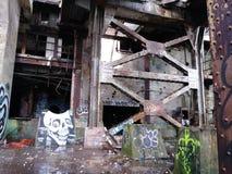 不再水下在40 yrs以后 农贸市场力量Plannew奥尔良LA被放弃的农贸市场能源厂 库存照片