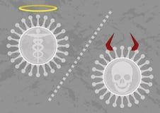 不是所有的病毒是坏的 向量例证