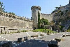 中世纪垒在阿维尼翁在法国 免版税库存图片