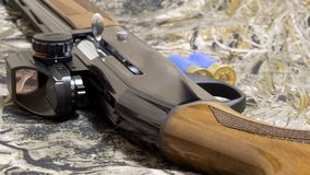 为狩猎做准备 春天或秋天狩猎的准备 免版税库存照片