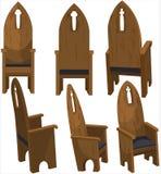 主教的座位教会椅子 免版税库存照片