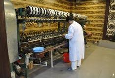 上海,第2可以:从上海的丝绸工厂博物馆内部 免版税库存照片
