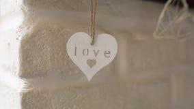 与心脏的装饰 新娘仪式花婚礼 股票视频