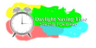 与时钟和太阳的夏时制 免版税库存图片