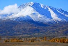 与绿色高分辨率风景和山的好的图片  图库摄影