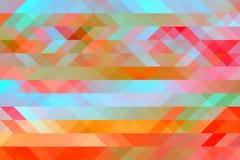 与马赛克作用的多彩多姿的抽象背景 库存例证