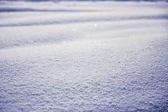 与雪纹理的冬天风景 免版税图库摄影
