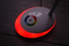 与LED和RGB光的光 轻的开关, 免版税库存照片