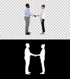 专业商人握手,阿尔法通道 库存照片