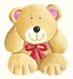 一个小的逗人喜爱的玩具熊的例证 向量例证