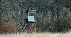 一highstand在森林的边 免版税库存图片