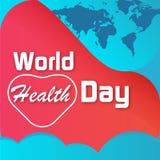 世界卫生日海报 偶尔的横幅模板 向量例证