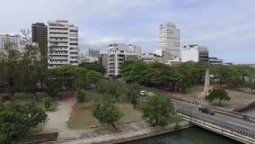 世界的著名正方形 套的鸟瞰图叫作阿拉庭院的正方形  里约热内卢巴西 影视素材