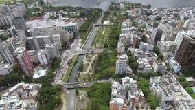 世界的著名正方形 套的鸟瞰图叫作阿拉庭院的正方形  里约热内卢巴西 股票视频