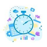 也corel凹道例证向量 时钟、日历和滴漏 时间安排的概念 企业象 向量例证