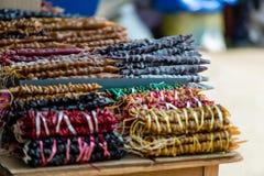 乔治亚,第比利斯,中部城市市场 从坚果和葡萄汁的地方纤巧 库存照片