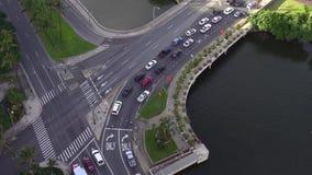 交通顶上的射击在檀香山,夏威夷 股票录像