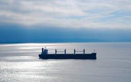 五谷罐车离去的普吉特海湾 库存照片