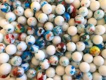 五颜六色的gumballs顶视图背景  库存图片
