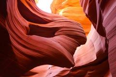 令人惊讶的更低的羚羊峡谷在亚利桑那 免版税库存图片