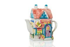 以茶馆的形式原始的茶壶 库存照片