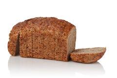 从发芽的五谷的面包 免版税库存图片
