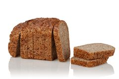 从发芽的五谷的面包 免版税库存照片