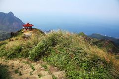 从茶壶山的平安的看法在台湾 免版税库存图片