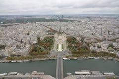 从艾菲尔铁塔,巴黎法国的看法 免版税图库摄影