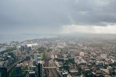 从CN塔的多伦多都市风景 库存照片