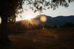 从Poon小山,迁徙安纳布尔纳峰的电路,喜马拉雅山的看法 免版税库存图片