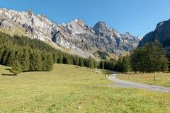 从Solalex的莱迪亚布勒雷山在瑞士 库存图片