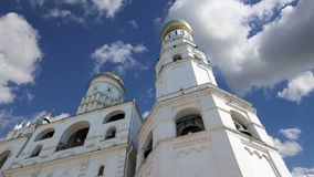 伊冯反对天空的伟大的响铃 克里姆林宫莫斯科俄国 科教文组织世界遗产站点 影视素材