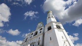伊冯反对天空的伟大的响铃 克里姆林宫莫斯科俄国 科教文组织世界遗产站点 股票录像
