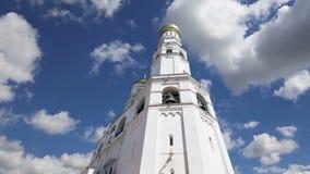 伊冯反对天空的伟大的响铃 克里姆林宫莫斯科俄国 科教文组织世界遗产站点 股票视频