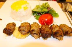 伊朗人Kabab,伊斯法罕 免版税库存图片