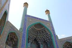 伊斯法罕,伊朗贾梅清真寺的尖塔  库存图片