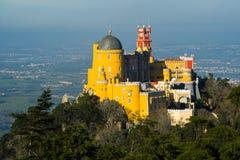 佩纳宫宫殿在辛特拉 辛特拉,里斯本 葡萄牙 免版税图库摄影