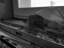 修理-与工具和锤子,凿子,大厦水平的大厦 免版税库存图片