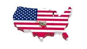俄克拉何马州 美国的政治地图 56 库存例证