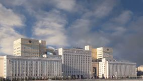 俄国FederationMinoboron,天的theÂ国防部主楼  莫斯科俄国 股票视频