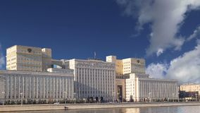 俄国FederationMinoboron,天的theÂ国防部主楼  莫斯科俄国 影视素材