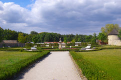 �ervený Kame� Castle. Park. District Pezinok Royalty Free Stock Photography