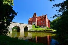 Červená Lhota kasteel Jindřichův Hradec Tsjechische Republiek royalty-vrije stock foto's