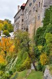 ÄŒeskà ½ Krumlov城堡在捷克 库存图片