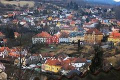 ÄŒeskÃ-½ Krumlov in der Tschechischen Republik lizenzfreies stockfoto