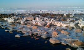  Ä de la Lettonie VecÄ·i Golfe de Riga, mer baltique Photographie stock libre de droits