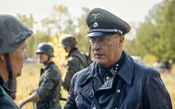 Ä?ELJABINSK, RUSSIA - 24 SETTEMBRE 2016: Rievocazione storica della seconda guerra mondiale, ufficiale tedesco Fotografia Stock