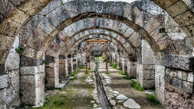 Ä°zmir,土耳其- 2013年3月31日:Smyrna是古希腊市位于爱琴海海岸,今天叫作伊兹密尔,土耳其 免版税库存照片